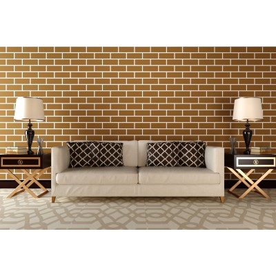 Stencil for walls - Brick wide