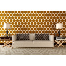 Stencil for walls - Honeycomb big