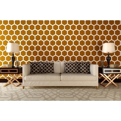 Stencil for walls - Honeycomb big