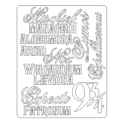 Chipboard Wizard. Eng lettering