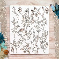 Chipboard jewelry set Our nest. Twigs