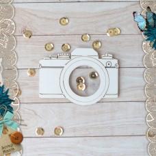Shaker. Bridal bouquet. Small camera