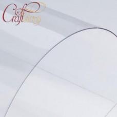 "Plastic sheet (transparent) 20x20 cm (8""x8"") (3 pcs.) 0,3mm"