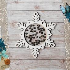 Shaker Scandi New Year. Snowflake big