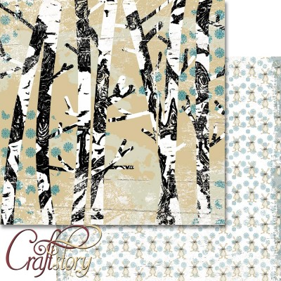 Paper Birchwood 12 x 12 inch (30,5cm x 30,5cm)