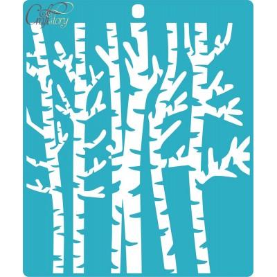 Stencil Birch grove