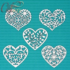 Chipboard Set hearts Spring