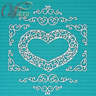 Chipboard Heart with swirls