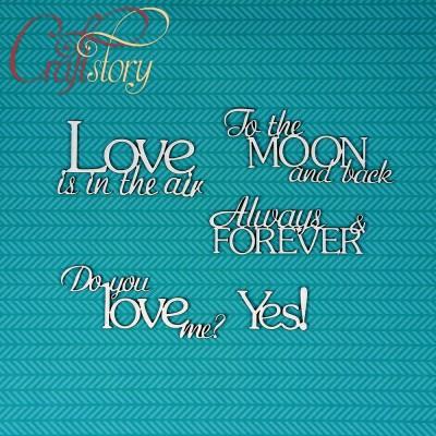 Chipboard Love Phrases
