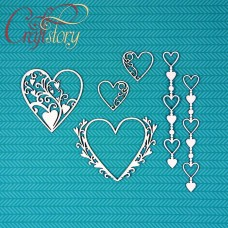 Chipboard Set with hearts