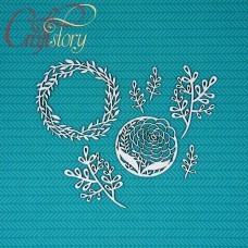 Chipboard Floral wreath