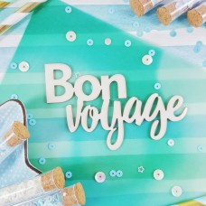 Chipboard Inscription Bon voyage
