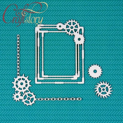Chipboard Frame with gears