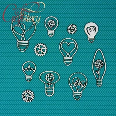 Chipboard Light Bulbs
