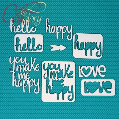 Chipboard Phrases Happy