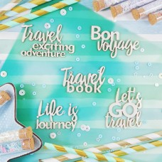 Chipboard Phrases Travel book