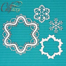 Chipboard Winter lace