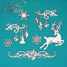 Chipboard Christmas decor
