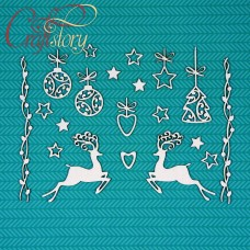 Chipboard Set with deer 1