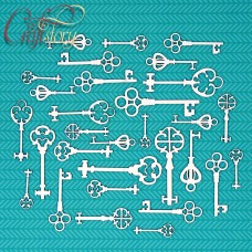 Chipboard Vintage keys