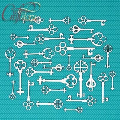 Chipboard Vintage keys