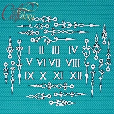 Chipboard Set of arrows