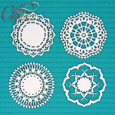 Chipboard Set openwork doily
