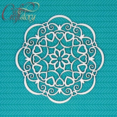 Chipboard Doily Bell