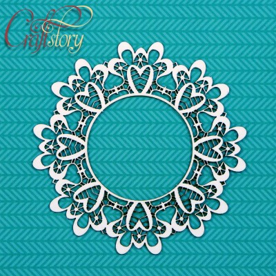 Chipboard Doily First Love