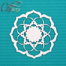 Chipboard Doily Spring Peony