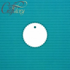 Tag openwork circle 8cm 5pcs