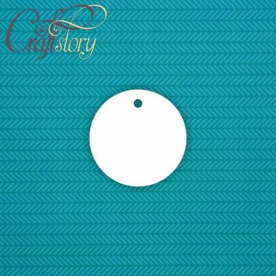 Tag circle 8cm 5pcs