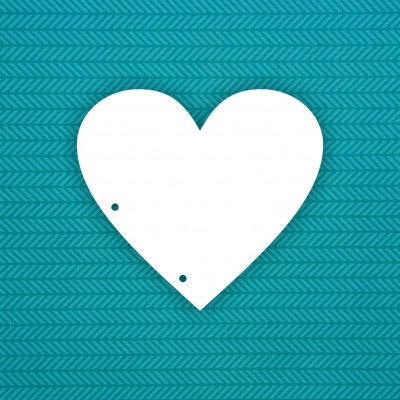 Album blank Heart (2 holes) - 6 pcs.