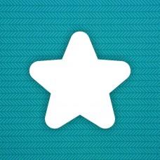 Album blank Star (round) - 6 pcs.
