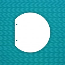 Album semi-circle (2 holes) - 6 pcs.