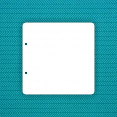 Base 20x20cm rounded corners (2 holes)