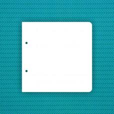 Album blank 20x20 cm with 2 rounded corners (2 holes) - 6 pcs.