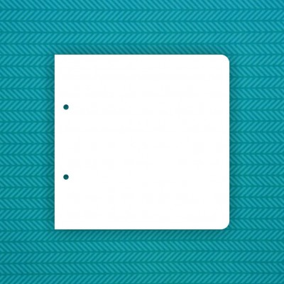 Album blank 20x20 cm with 2 rounded corners (2 holes) - 6 pcs.