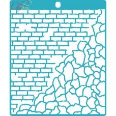 Stencil Brick and stone