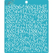 Stencil Background numbers
