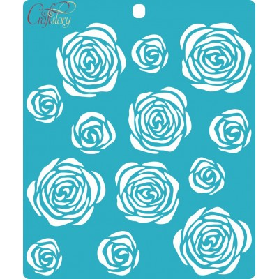 Stencil of Roses