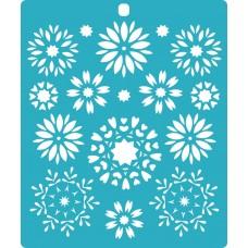 Stencil Flower kaleidoscope