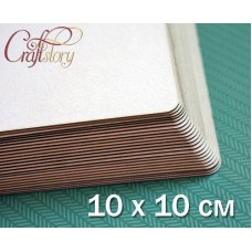Cardboard with rounded corners 10 x 10 cm