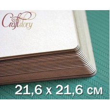Cardboard with rounded corners 21.6 x 21.6 cm (8.5 x 8.5 inch)