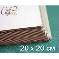 Cardboard with rounded corners 20 x 20 cm