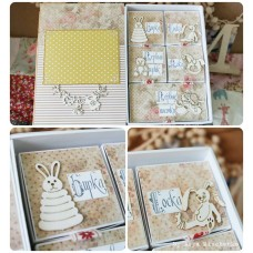 Chipboard Set for Baby