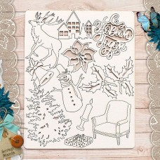 Chipboard New Year's traditions. Decor